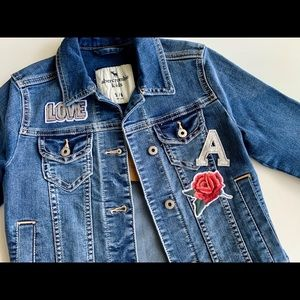 NWT Abercrombie Kids Embroidered Denim Jacket 5/6
